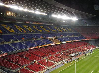 Kolla, arenan ser ut precis som på TV
