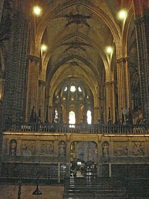 En interiör från Barcelonas katedral