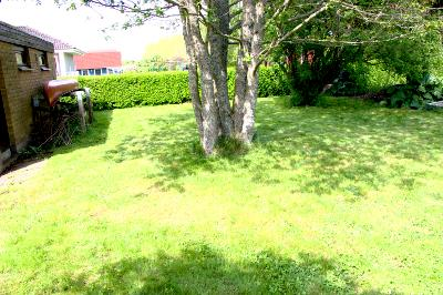 Det blev en gräsmatta till slut.