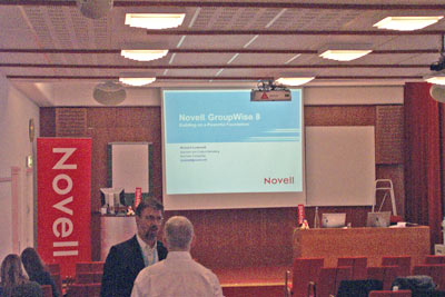 Novell IT in Action tour, Stockholm