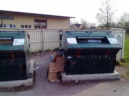 Container för pappersförpackningar