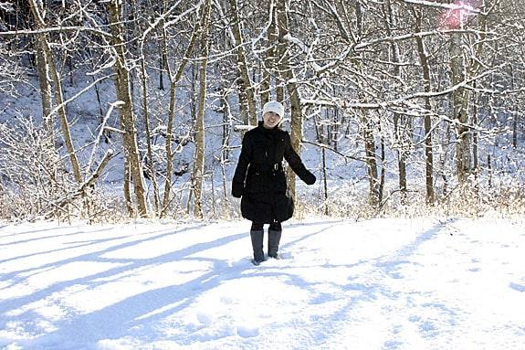 Lucy i snön