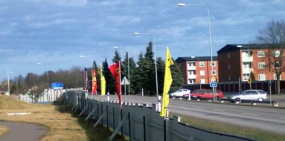 Flaggor vid China Garden