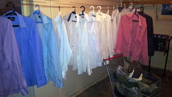 Skjortor på tork