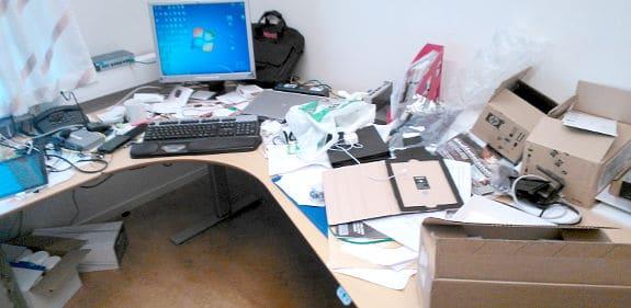 Skrivbordet på jobbet