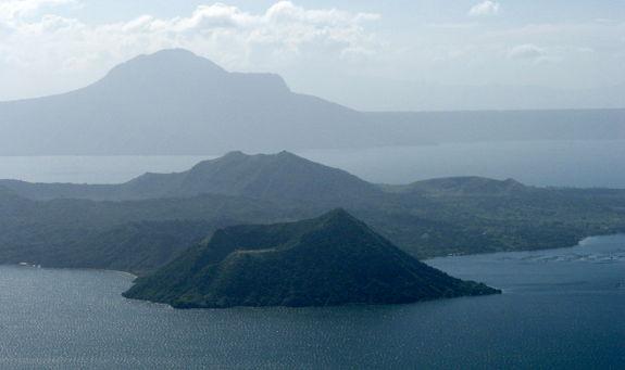 Vulkanen mitt i vattnet