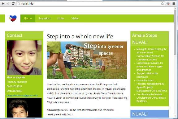 skärmdumpå på nuvali.info
